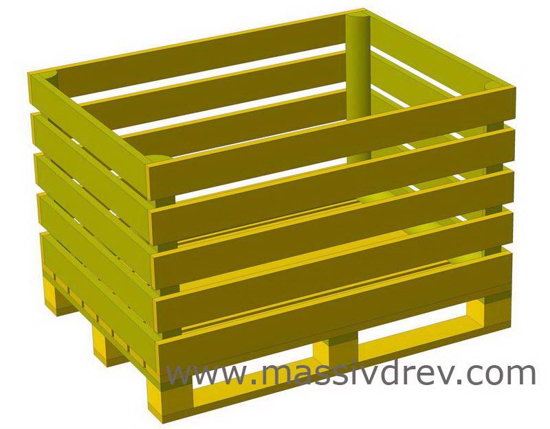 Забор из ящиков из под овощей фото 4