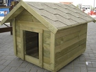 wooden doghouses