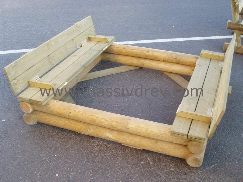 Как сделать песочницу из дерева своими руками
