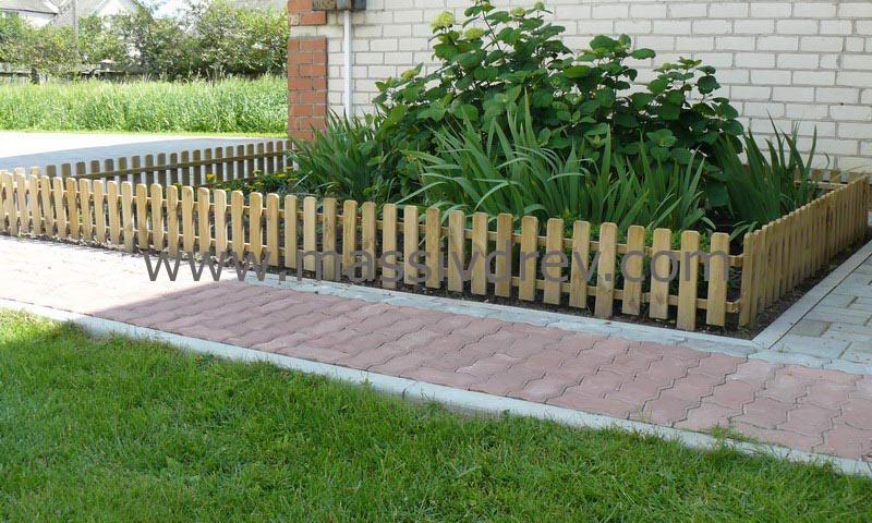 Декоративные деревянные заборы